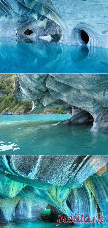 Мраморные гроты озера Каррера