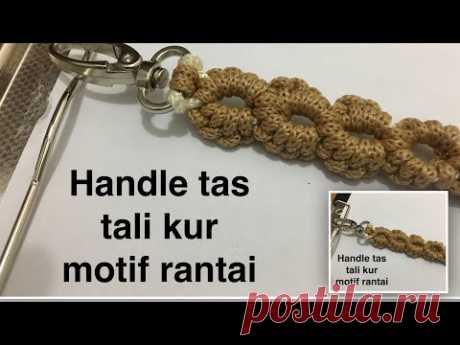 Cara membuat handle tas tali kur motif rantai
