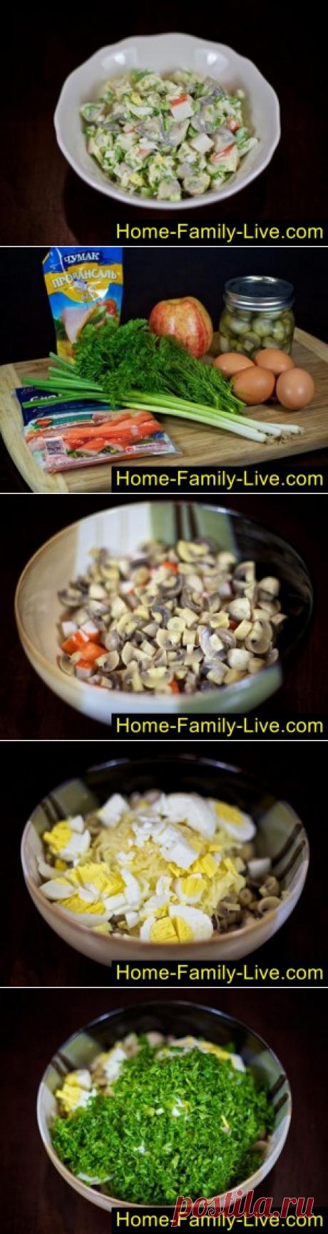 Салат из крабовых палочек/Сайт с пошаговыми рецептами с фото для тех кто любит готовить