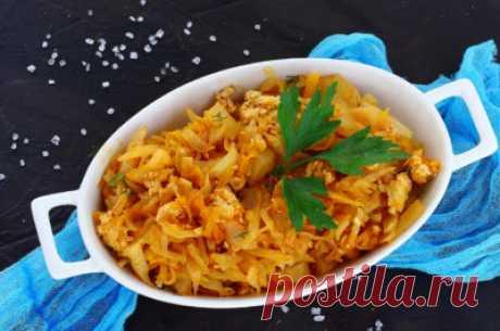 Тушеная капуста с фаршем: рецепты, как приготовить на сковороде, в мультиварке, в казане - Onwomen.ru