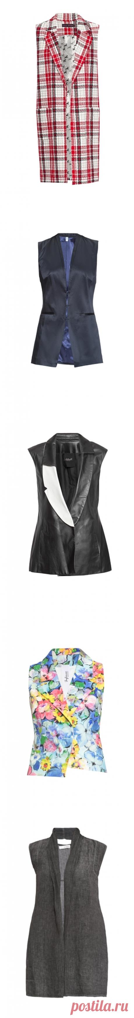 Купить женские жилетки - Модные меховые жилеты Интернет магазин брендовой одежды премиум-класса онлайн бутик - Topbrands.ru