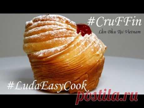 KRAFFIN con el Relleno el Híbrido de KRUASSANA MAFFINA la receta el postre KRAFFIN Americano cruffin dough recipe