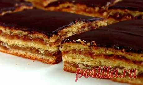 Блюда народов мира. Приготовьте - это очень вкусно!  Венгерский пирог «Жербо»  Уникальный пирог «Жербо» (назван по имени кондитера) больше похож на торт. Покрытый шоколадной глазурью, высокий, красивый, с ароматом абрикосового варенья — высший класс.  Ингредиенты:  Для теста:  500 грамм муки; 100 грамм сахара; 250 грамм сливочного масла или маргарина; 1 яйцо; 50 миллилитров молока; 10 грамм сухих дрожжей (или 30 грамм свежих); 1 чайная ложка разрыхлителя.  Для начинки:  20...