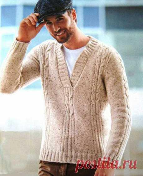 Men's Hand Knit Sweater 200B – KnitWearMasters