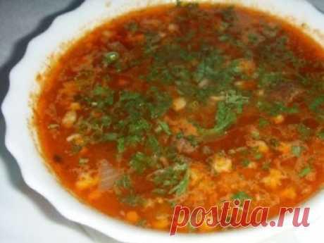 Рецепт: Постный суп харчо