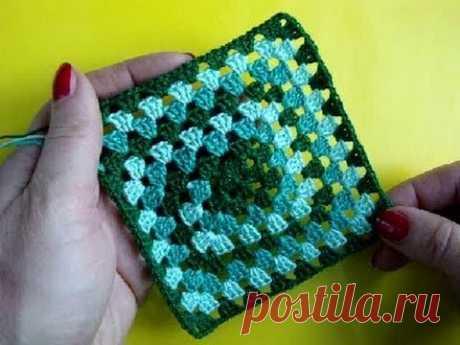 Вязание крючком Урок 251 Квадратный мотив Crochet Granny square