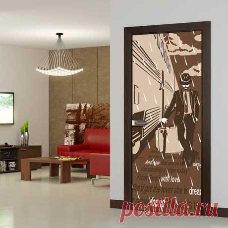 Стеклянная дверь Перрон от производителя Акма: рисунок нанесен специальной несмываемой краской. Дверь освежит любой интерьер, добавив ему изюминки и разнообразия!