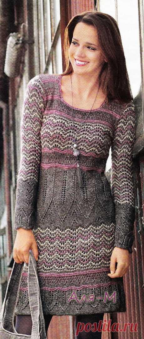 Вязание. Платье, спицы.