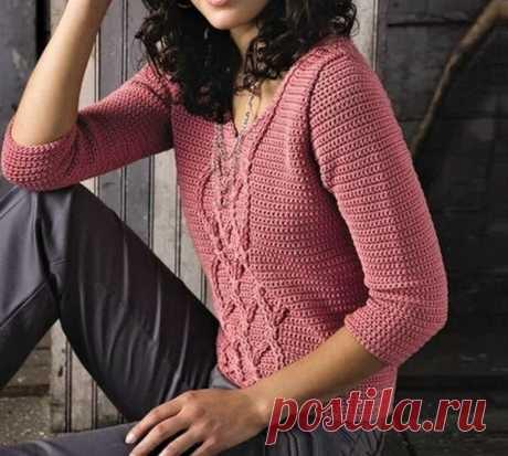 Простой способ связать красивый летний пуловер крючком (описание) | Идеи рукоделия | Яндекс Дзен