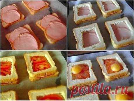 Необычный и вкусный бутерброд. ☕➩➩➩...Показать Полностью.
