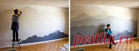 Интересные идеи декора стен краской - Сам себе мастер - медиаплатформа МирТесен