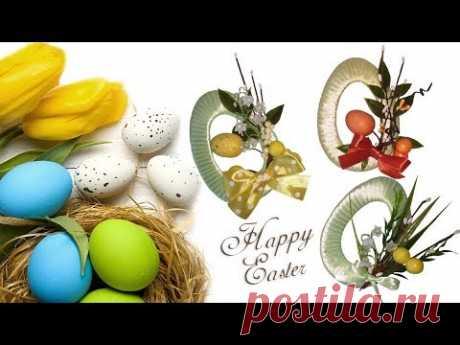 DIY к ПАСХЕ: ПАСХАЛЬНОЕ Яйцо - МАГНИТ из ЛЕНТ /Подарок-магнит на Пасху /Gift-magnet for Easter
