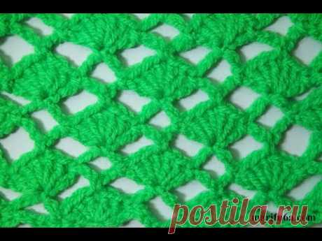 crochet simple shell and arch stitch for beginners