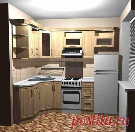 El diseño de la cocina de escaso volumen de 5 sq. m. en el apartamento-bloque de cinco pisos: los ejemplos del arreglo de la foto