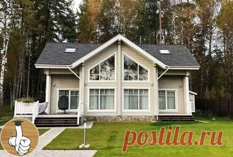 Красивый каркасный дом в скандинавском стиле.