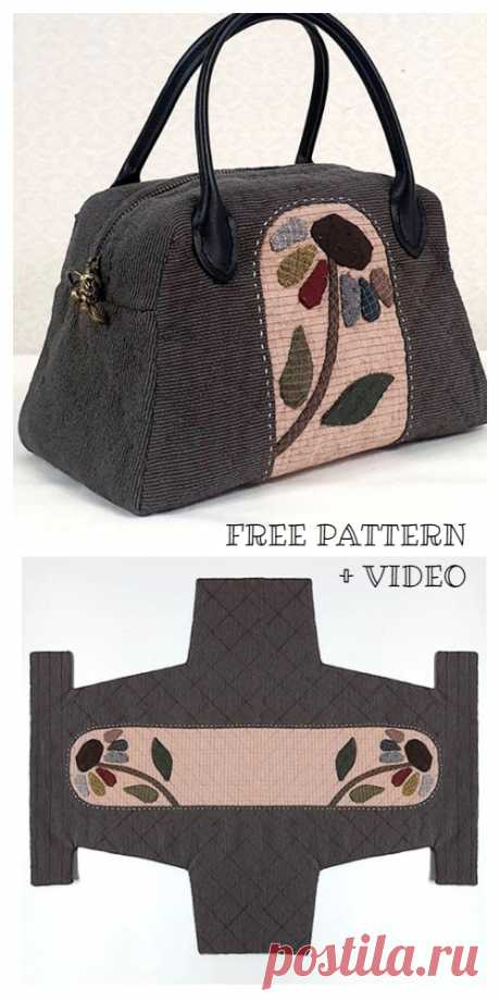 DIY One-Piece Fabric Quilt Bag Free Sewing Pattern + Video | Fabric Art DIY