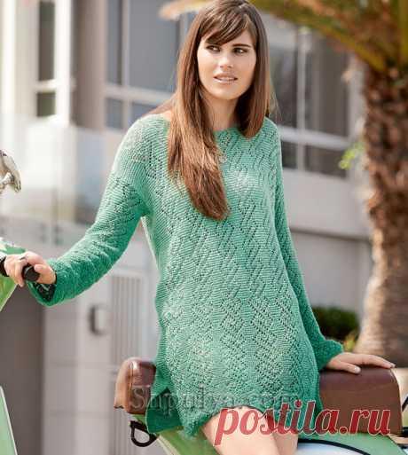 Ажурное мини-платье с разрезами - SHPULYA.com