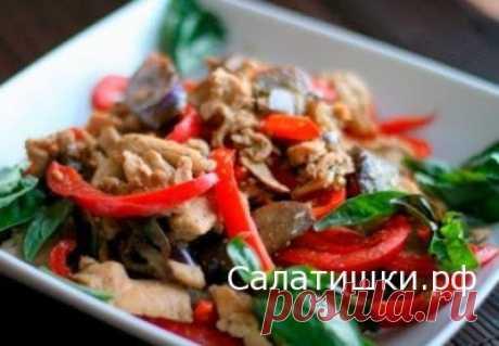 РЕЦЕПТ САЛАТА С КУРИНОЙ ГРУДКОЙ И ОВОЩАМИ » Рецепты вкусных салатов