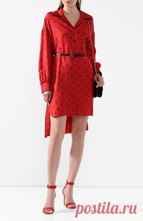 Женское красное платье с поясом FENDI — купить за 126000 руб. в интернет-магазине ЦУМ, арт. FDA673 A9DQ
