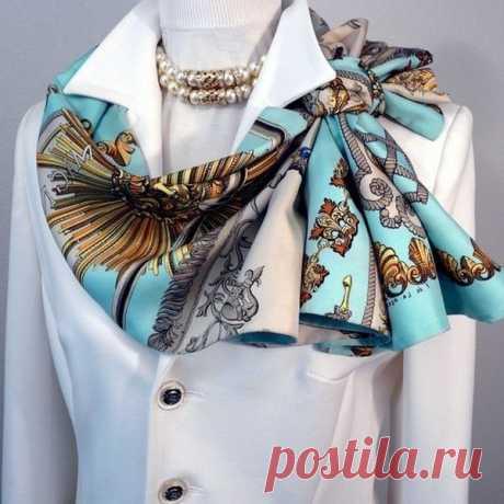 Как носить главный шелковый аксессуар осени | модница | Яндекс Дзен
