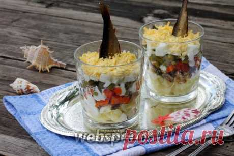 Salad with Akvatik's sprats the recipe with a photo how to prepare on Webspoon.ru