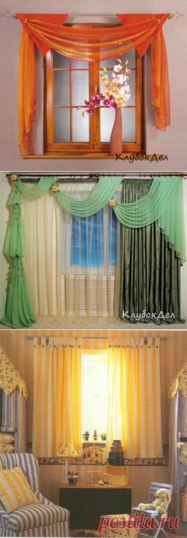 Пошив штор, как пошить красивые шторы в детскую и на кухню, виды штор.