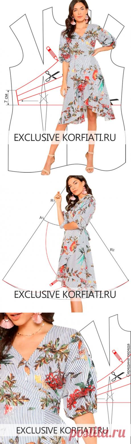 Выкройка легкого платья своими руками от Анастасии Корфиати