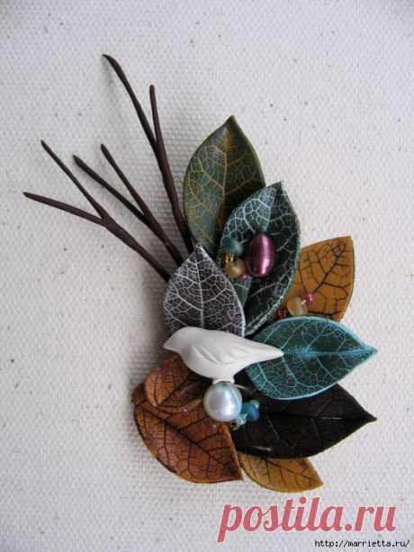 Осенние листья из полимерной глины.
