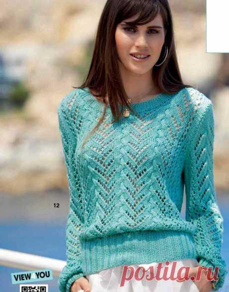Пуловеры с вертикальным ажурным узором | Домашние зарисовки | Яндекс Дзен