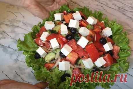 Греческий салат - 5 вкусных классических рецептов (пошагово)