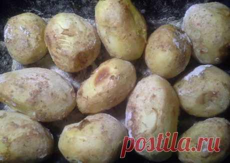 Картошка печеная в муке - пошаговый рецепт с фото.
