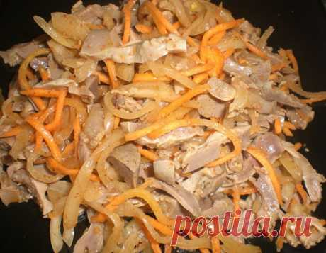 La ensalada aguda de los ventrículos de gallina