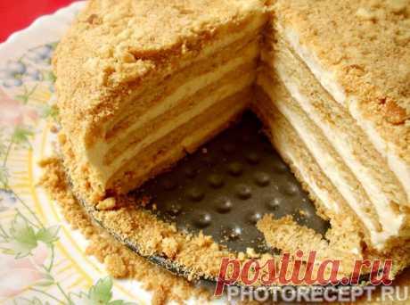 """Супер вкусный торт """"Ленивый медовик"""" - рецепт с фото пошагово Супер вкусный торт """"Ленивый медовик"""" - пошаговый кулинарный рецепт приготовления с фото, шаг за шагом."""