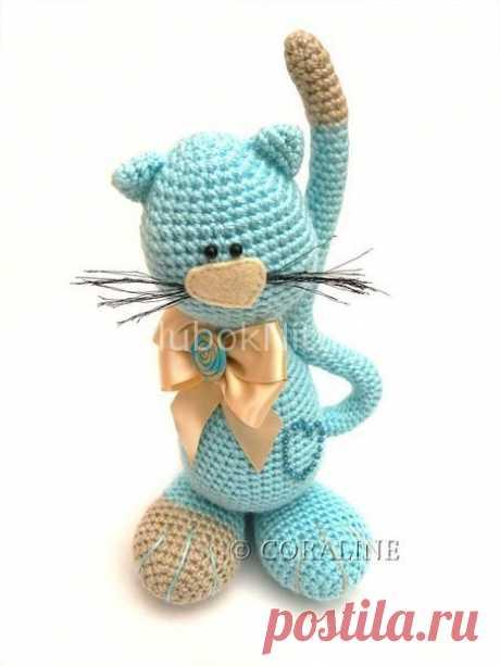 Котик с бантиком | Вязание для детей | Вязание спицами и крючком. Схемы вязания.