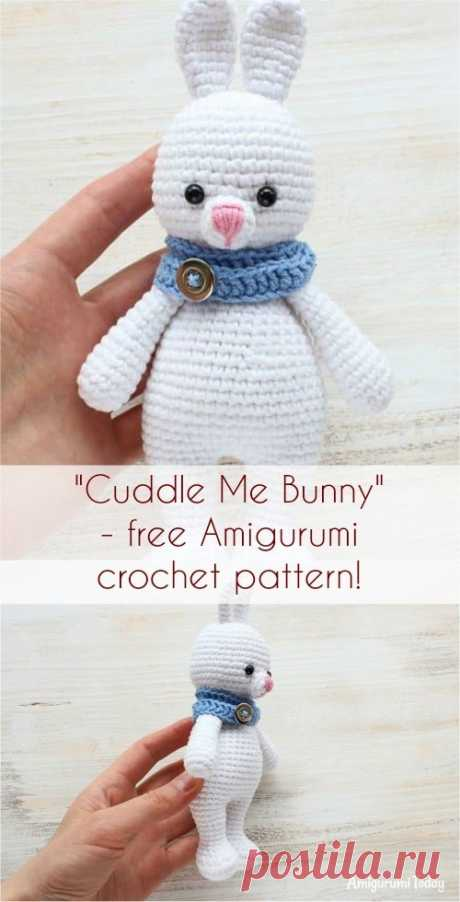 """Cuddle Me Bunny"" Free Amigurumi Crochet Pattern #амигуруми  #вязание #вязаниекрючком #handmadedoll #рукоделие #ручнаяработа #amigurumis #amigurumi #amigurumidoll #amigurumipattern #freepattern #freecrochetpatterns #crochetpattern #crochetdoll #crochettutorial #patternsforcrochet #pattern #tutorial #häkeln"