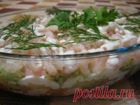 Морковный салат с креветками и огурцами рецепт с фото - 1000.menu