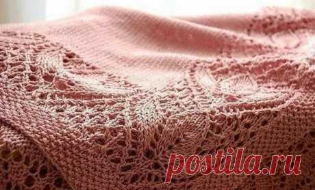 Кайма спицами. Красивая отделка пледа. | Блог про вязание | Яндекс Дзен