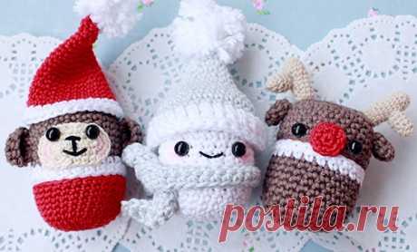 Tejemos al monigote de nieve de la kinder-sorpresa para Nuevo año - la Feria de los Maestros - la labor a mano, handmade