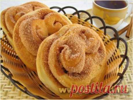 Вкусные сдобные булочки