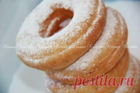 Творожные пончики на кефире.