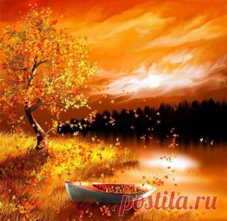 Художник Осень рисовал...