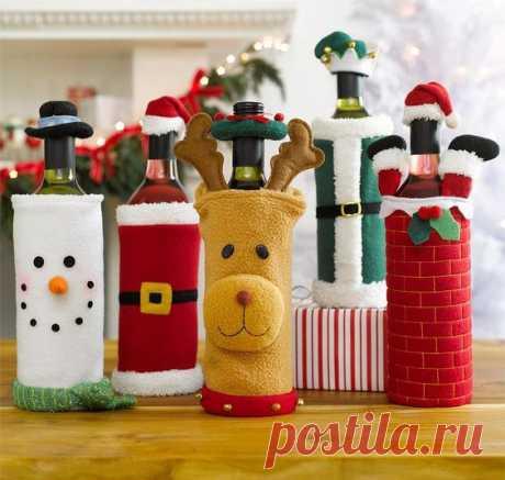 Декорируем бутылочки к празднику — Сделай сам, идеи для творчества - DIY Ideas
