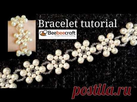 БРАСЛЕТ из Бисера и Бусин МК / КОЛЬЕ из Бусин и Бисера / Beebeecraft/ BRACELET of Busins and Beads