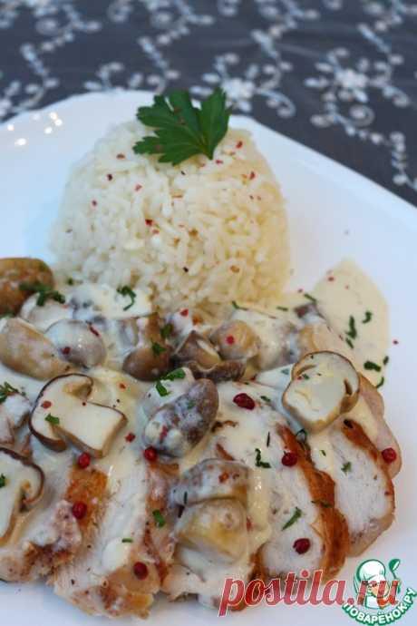 Куриное филе с соусом из белых грибов – кулинарный рецепт