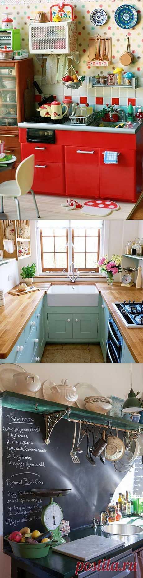 Интерьеры кухни и посуда для кухни.