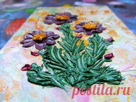 Lila Blumen Ölgemälde Original Art Impasto Blume Wand Kunst   Etsy