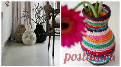 Мелкое интерьерное вязание (подборка) Модная одежда и дизайн интерьера своими руками