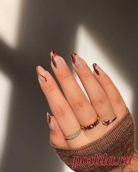 В моду вошел маникюр с шоколадными «разводами» - Красота - Леди Mail.ru