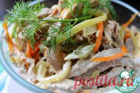 Салат мясной с огурцами - кулинарный рецепт