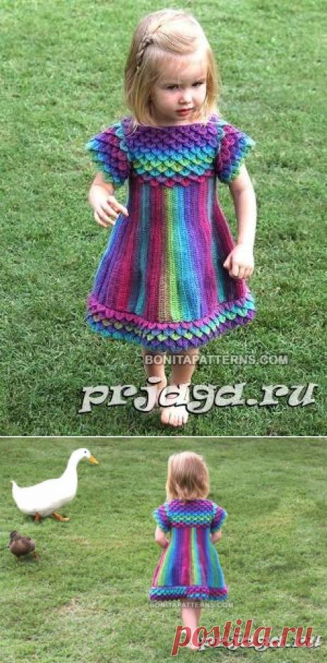 Вязаное платье с чешуйками от Bonita Patterns